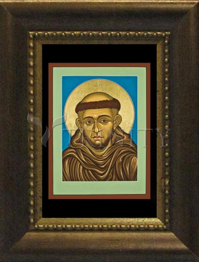 Desk Frame Bronze - St. Francis of Assisi by L. Williams
