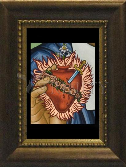 Desk Frame Bronze - Immaculate Heart of Mary by L. Williams
