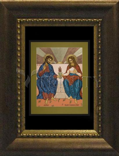 Desk Frame Bronze - Jesus and Mary Magdalene by L. Williams