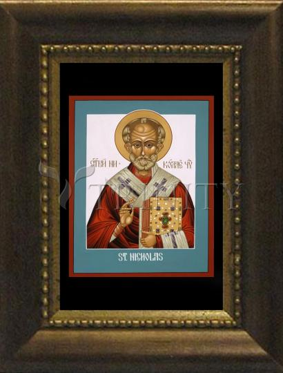 Desk Frame Bronze - St. Nicholas by L. Williams