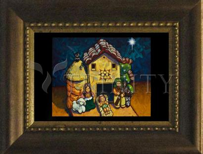 Desk Frame Bronze - Peruvian Nativity by L. Williams