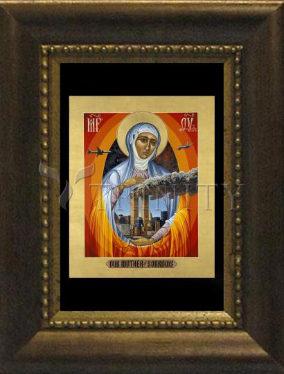 Desk Frame Bronze - Mater Dolorosa - Mother of Sorrows by L. Williams