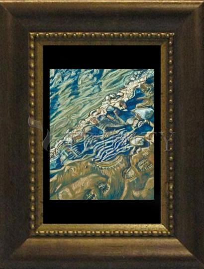 Desk Frame Bronze - Shoe Prints on the Bank by L. Williams