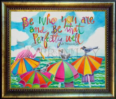 Desk Frame Bronze - Be Who You Are by M. McGrath