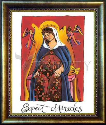 Desk Frame Bronze - Mary: Expect Miracles by M. McGrath