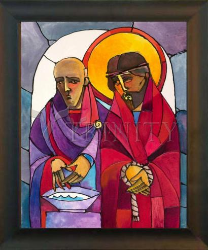 Desk Frame Black - Stations of the Cross - 01 Jesus is Condemned to Death by M. McGrath