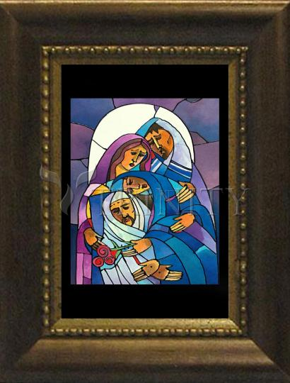 Desk Frame Bronze - Stations of the Cross - 14 Body of Jesus is Laid in the Tomb by M. McGrath