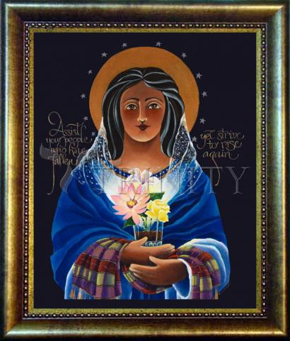 Desk Frame Bronze - Our Lady of Light: Help of the Addicted by M. McGrath