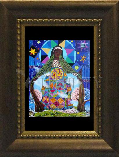 Desk Frame Bronze - Mary, Our Lady of Refuge by M. McGrath