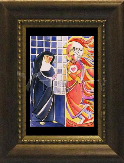 Desk Frame Bronze - St. Margaret Mary Alacoque, Cloister by M. McGrath