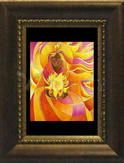 Desk Frame Bronze - Mary, Our Lady of Light by M. McGrath