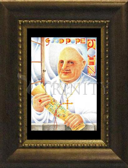 Desk Frame Bronze - St. John XXIII by M. McGrath