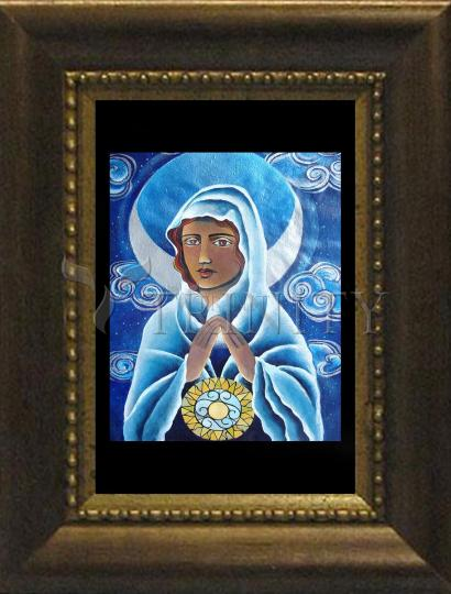 Desk Frame Bronze - Mary, Queen of the Prophets by M. McGrath