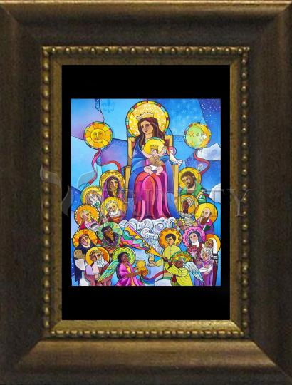 Desk Frame Bronze - Mary, Queen of the Saints by M. McGrath