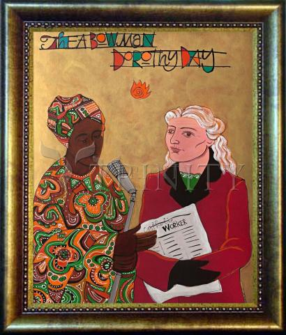 Desk Frame Bronze - Sr. Thea Bowman and Dorothy Day by M. McGrath