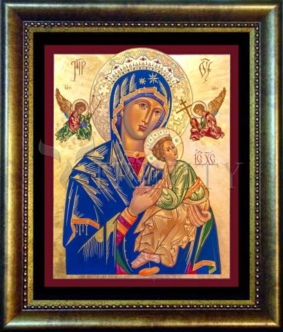 Desk Frame Bronze - Our Lady of Perpetual Help by R. Gerwing