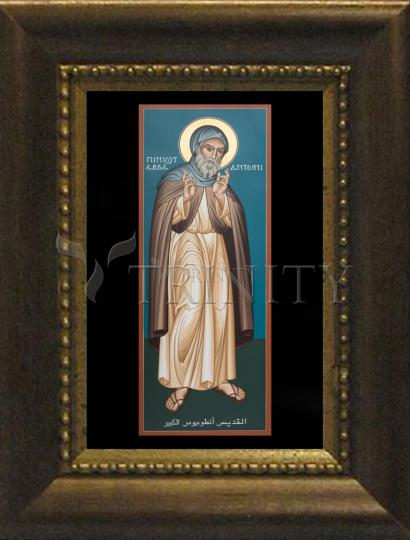 Desk Frame Bronze - St. Antony of Egypt  by R. Lentz