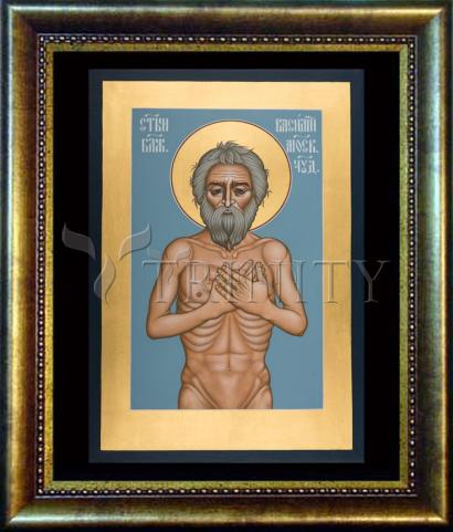 Desk Frame Bronze - St. Basil the Blessed of Moscow  by R. Lentz
