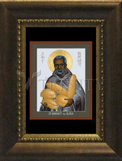 Desk Frame Bronze - St. Benedict the Black by R. Lentz