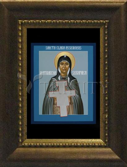 Desk Frame Bronze - St. Clare of Assisi: Seraphic Matriarch by R. Lentz