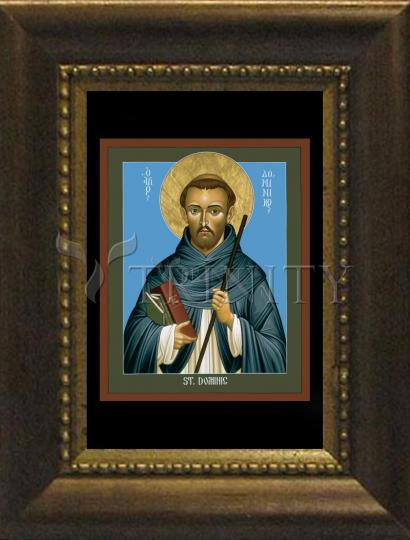 Desk Frame Bronze - St. Dominic Guzman by R. Lentz