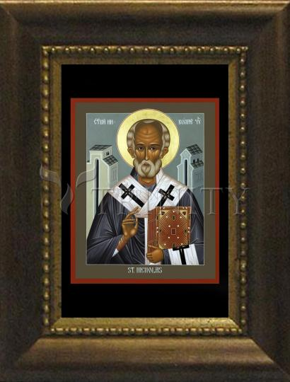 Desk Frame Bronze - St. Nicholas of Myra by R. Lentz