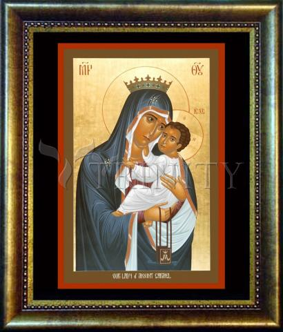 Desk Frame Bronze - Our Lady of Mt. Carmel by R. Lentz