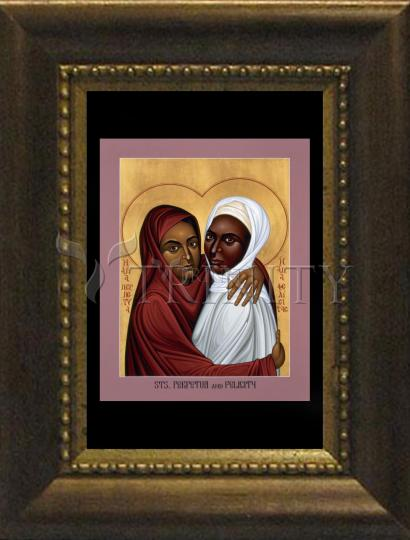 Desk Frame Bronze - Sts. Perpetua and Felicity by R. Lentz