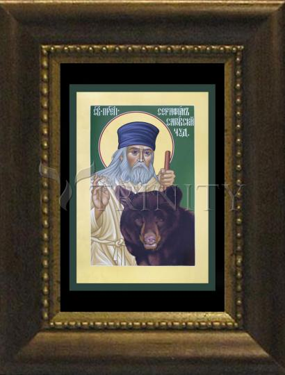 Desk Frame Bronze - St. Seraphim of Sarov by R. Lentz
