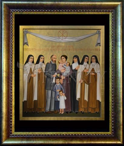 Desk Frame Bronze - Sts. Louis and Zélie Martin with St. Thérèse of Lisieux and Siblings by P. Orlando