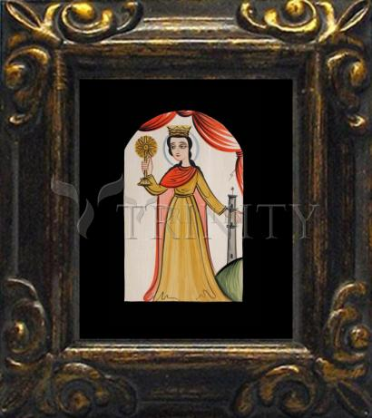 Mini Magnet Frame - St. Barbara by A. Olivas