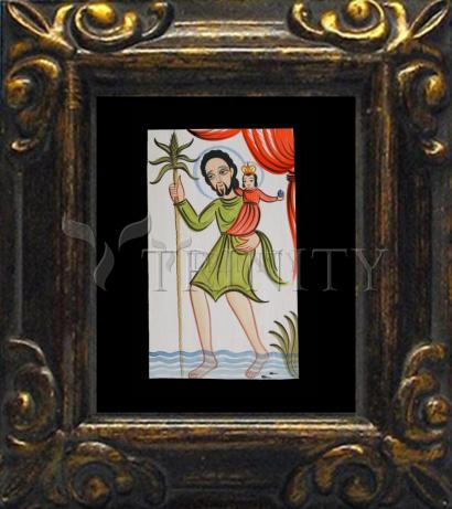 Mini Magnet Frame - St. Christopher by A. Olivas