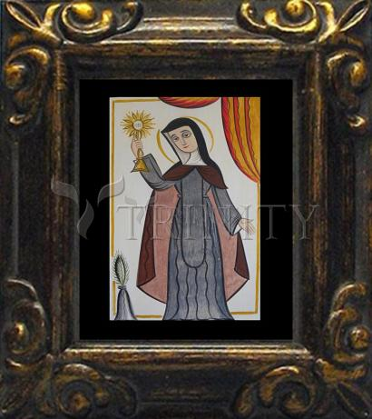 Mini Magnet Frame - St. Clare of Assisi by A. Olivas