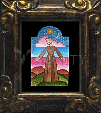 Mini Magnet Frame - St. Francis of Assisi, Herald of Creation by A. Olivas