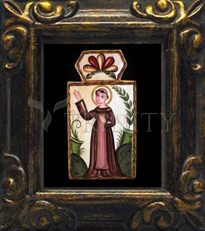 Mini Magnet Frame - St. Francis of Assisi by A. Olivas