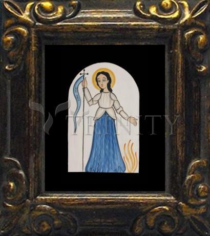 Mini Magnet Frame - St. Joan of Arc by A. Olivas
