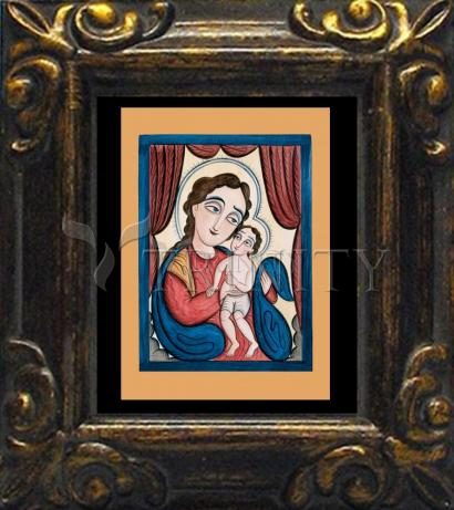 Mini Magnet Frame - Our Lady, Refuge of Sinners with the Christ Child by A. Olivas
