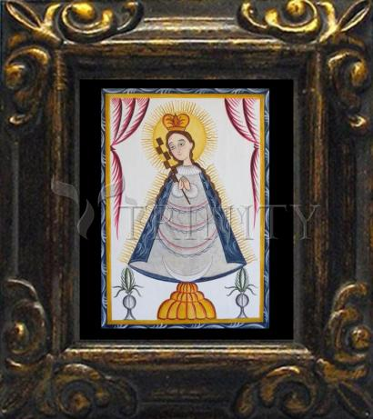 Mini Magnet Frame - Virgin of the Macana by A. Olivas