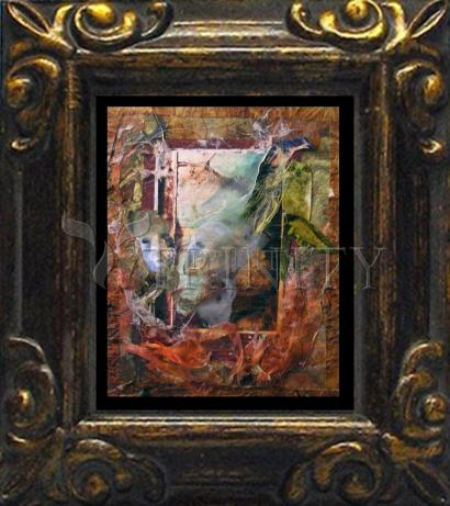 Mini Magnet Frame - Faces Amidst Tattered Shroud by B. Gilroy