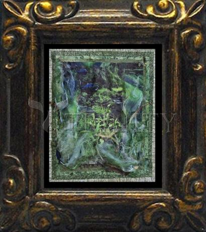 Mini Magnet Frame - Two Swans In Garden by B. Gilroy