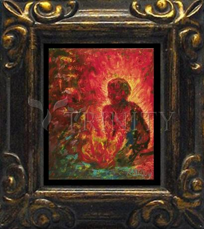 Mini Magnet Frame - Tending The Fire by B. Gilroy