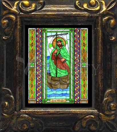 Mini Magnet Frame - St. Brendan by B. Nippert