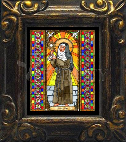 Mini Magnet Frame - St. Clare of Assisi by B. Nippert