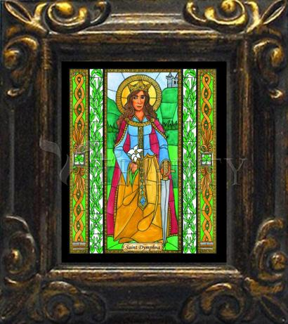 Mini Magnet Frame - St. Dymphna by B. Nippert