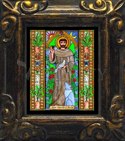 Mini Magnet Frame - St. Francis of Assisi by B. Nippert