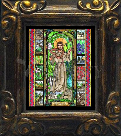 Mini Magnet Frame - St. Francis - Patron of Exotic Animals by B. Nippert
