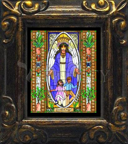 Mini Magnet Frame - Guardian Angel by B. Nippert