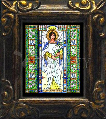 Mini Magnet Frame - St. Gabriel Archangel by B. Nippert