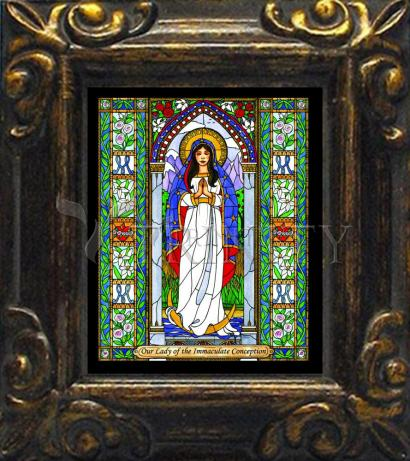 Mini Magnet Frame - Our Lady of the Immaculate Conception by B. Nippert