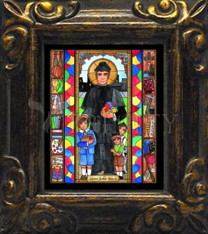 Mini Magnet Frame - St. John Bosco by B. Nippert